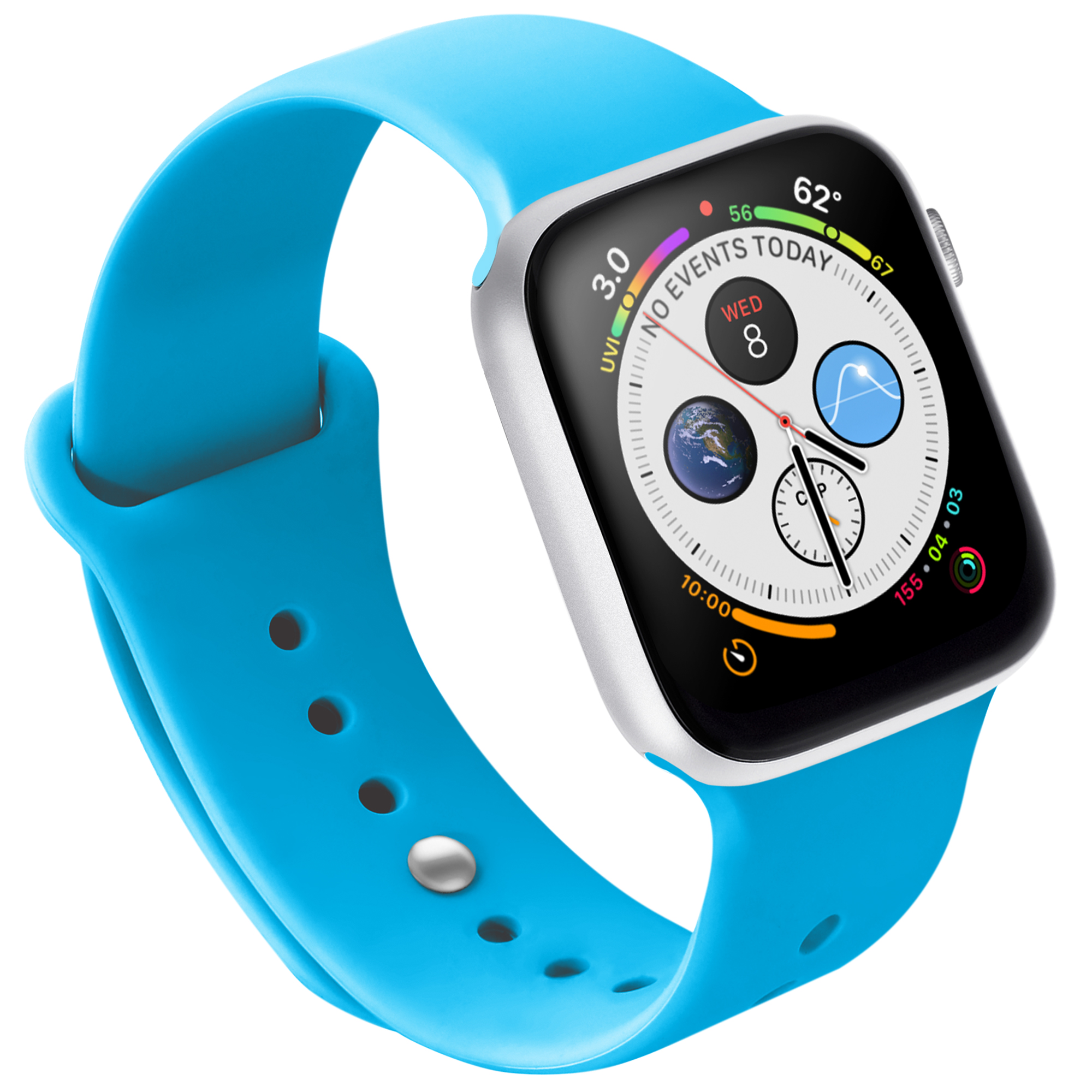 Naztech Silicone Band for Apple Watch (42/44mm) - Blue